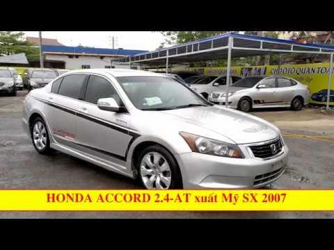 Honda accord cũ xuất mỹ 2007 máy turbo chiếc xe dành cho dân chơi chính hiệu, bền bỉ, đầm chắc.