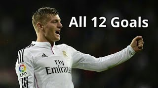 Toni Kroos  All 12 Goals For Real Madrid 2014-2018
