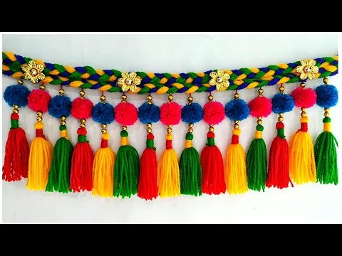 DIY Woolen Door Toran | Pom-pom Toran Out of Wool | Home Decor Idea