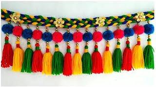 DIY Woolen Door Toran | Pom-pom Toran Out of Wool | Home Decor Idea