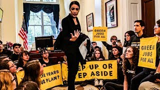 Awesome: Alexandria Ocasio-Cortez Joins Pelosi Protest