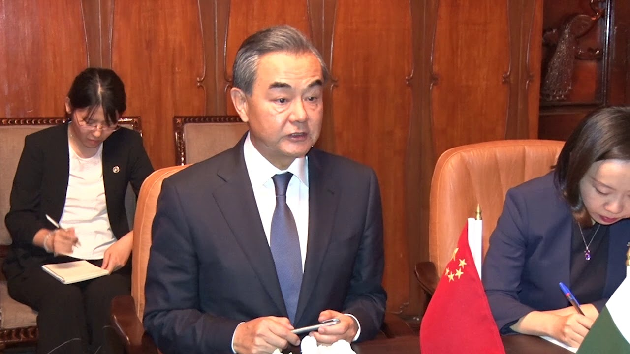 Chinese delegation led by Chinese Foreign Minister Mr Wang Yi called on General Qamar Javed Bajwa