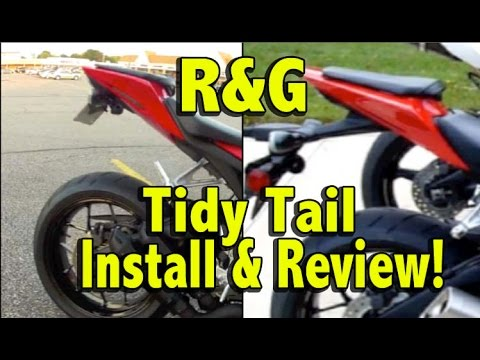 Honda Cbr1000rr Review >> R&G Tidy Tail Install and Review - 2012 Honda CBR1000rr Fender Eliminator Kit - YouTube
