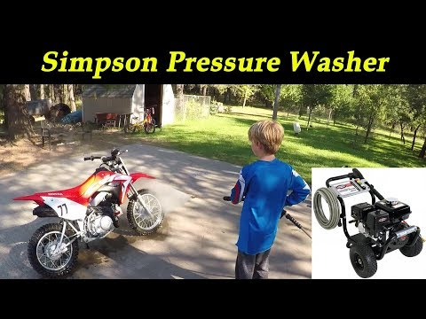 Simpson PS3228 Pressure Washer with Honda GX200 Unboxing and first run