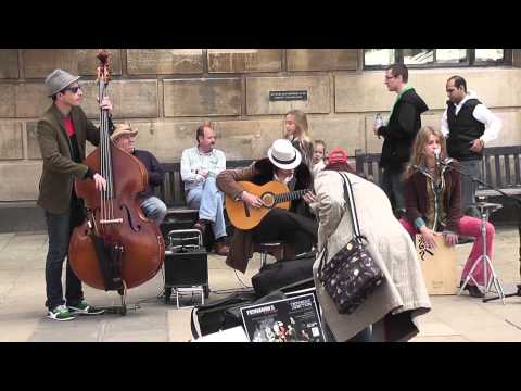 Sway, cover version by Fernando's Kitchen, Cambridge, 2nd June 2013, live street performance