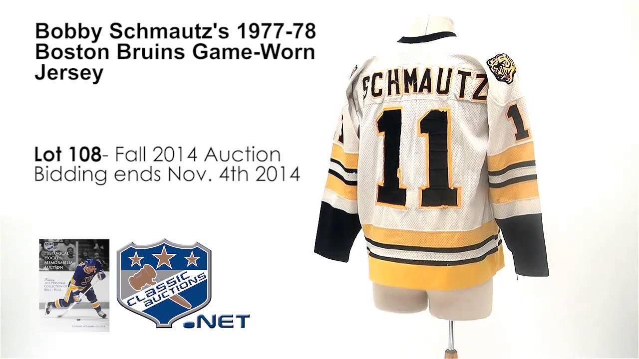 cheaper 19c79 dac32 Bobby Schmautz's 1977-78 Boston Bruins Game-Worn Jersey