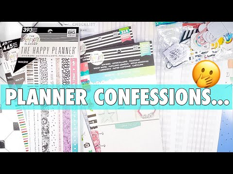 MY HAPPY PLANNER LEAST USED PLANNER SUPPLIES + WHY I STILL LOVE THEM