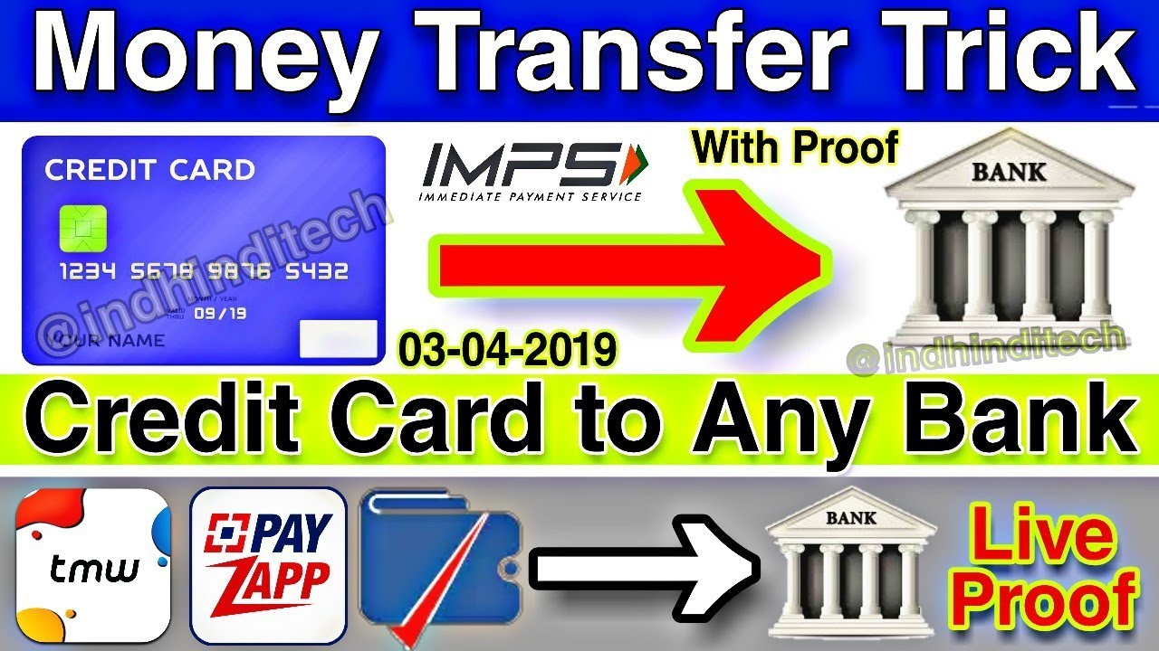 Transfer Money Credit Card To Any Bank