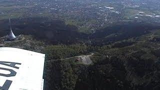 krátký přelet nad mým kukaččím hnízdem zvaným Liberec (vyhlídkový let + Ještěd)