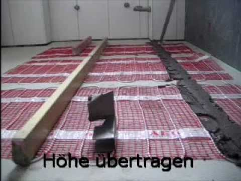 fliesen auf elektr fu bodenheizung youtube. Black Bedroom Furniture Sets. Home Design Ideas