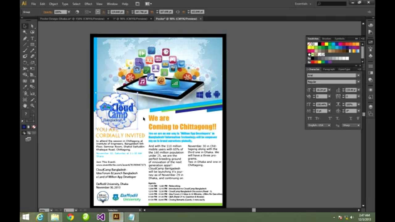 How To Design Poster On Mac: How to make a Poster Using Illustrator - YouTuberh:youtube.com,Design