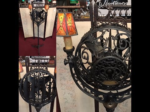 1920's Victor LUMINAIRE Cast Iron Electric FUNERAL PARLOR Fan FOR SALE $4,995