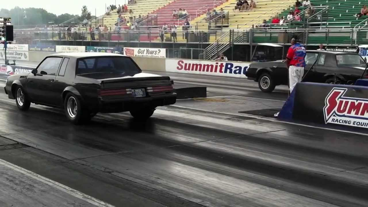 Turbo Regal Drag Racing Action Norwalk Buick Day 2012
