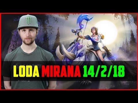 Lod[A] Mirana /w 7ckngMad Bane 14/2/18 | DOTA 2 ranked gameplay