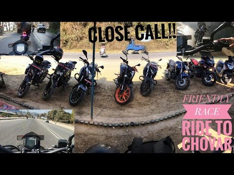 RIDE TO CHOBHAR ||FRIENDLY RACE AND CLOSE CALL|| last day at college.