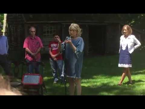 Martha Stewart Returns to Former Westport Home