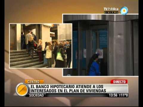 Visión Siete: Plan de Viviendas: el Banco Hipotecario comenzó a atender a los interesados de YouTube · Duración:  1 minutos 32 segundos