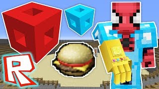 ROBLOX CHANCE BLOCKS CHALLENGE - Minecraft (Roblox Items, Infinity Glove)