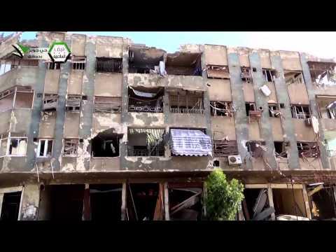 دمشق - جوبر : جولة في ساحة شعبان بمنطقة علوش 19-03-2014