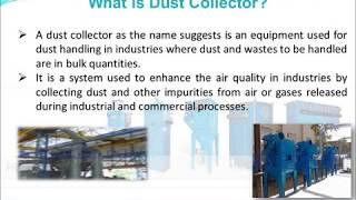 Types Of Dust Collectors -- Cyclone Dust Collectors, Bag Filters, Centralized Dust Collection System