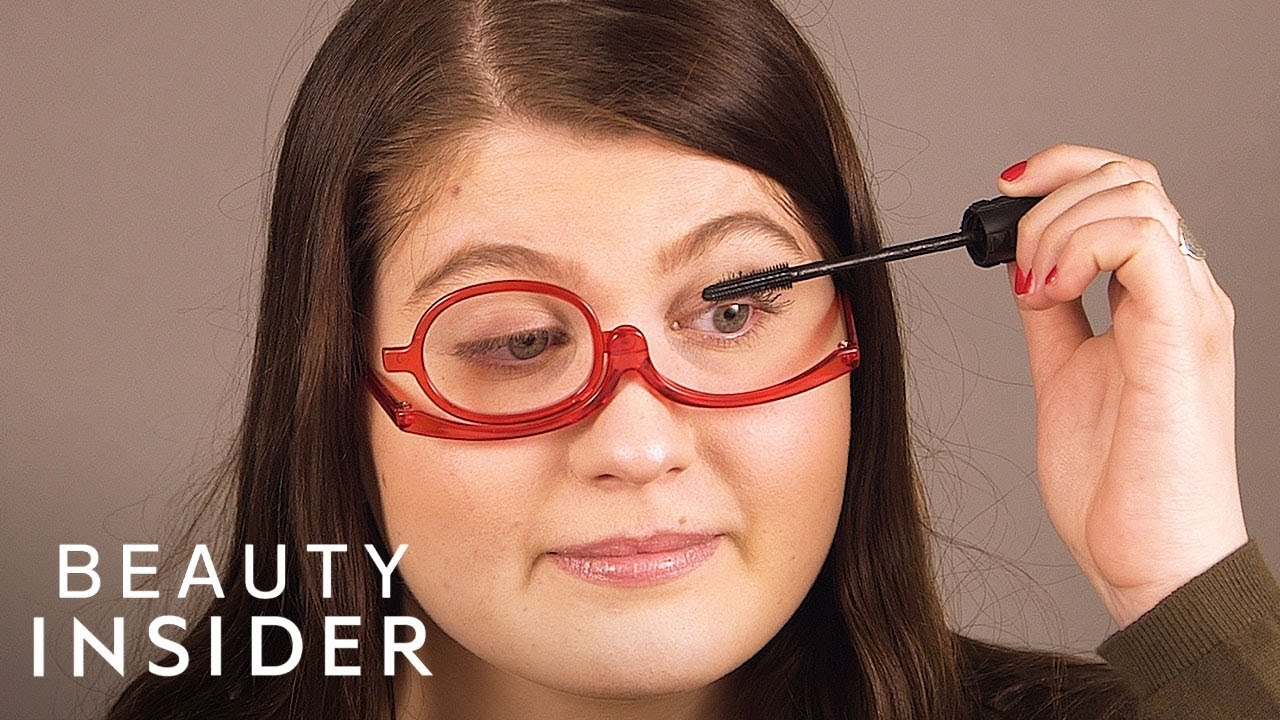 60059f1821d You Can Wear These Glasses And Apply Makeup At The Same Time - YouTube