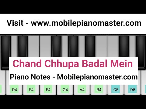 Chand Chhupa Badal Mein Piano Tutorial|Piano Keyboard|Piano Lessons|Music|learn piano Online| Mobile