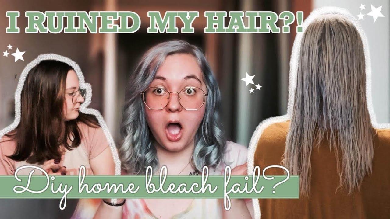 From brown to silver hair transformation   DIY HOME HAIR BLEACH *FAIL*