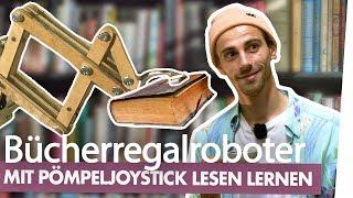 Bücherregal-Roboter mit Abflusspümpel-Joystick! UNGLAUBLICH, ES KLAPPT! |Kliemannsland