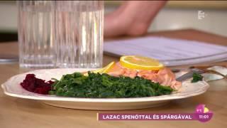 Mádai Vivien imádta Fekete Dávid spenótos lazacát - tv2.hu/fem3cafe