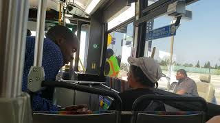 Woman on bus will not give a seat to a disabled man in a wheelchair