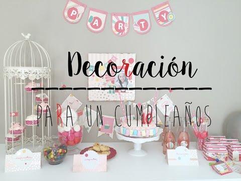 Tutorial Manualidades Decoración Cumpleaños Infantil