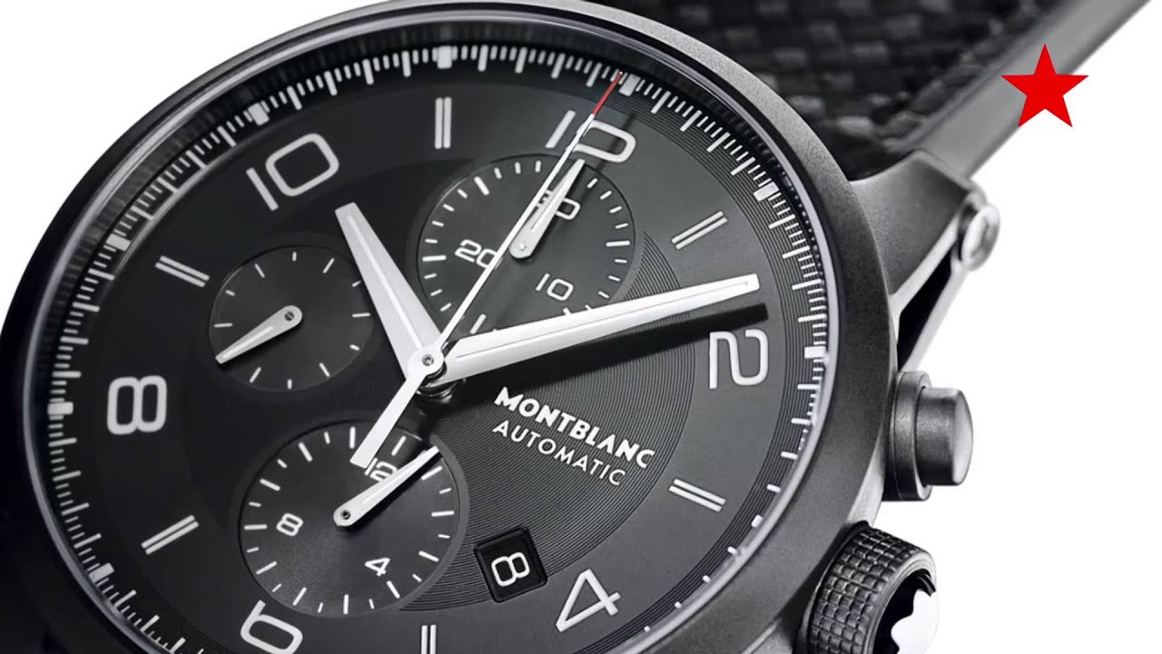 montblanc preowned watches star mount product watch black
