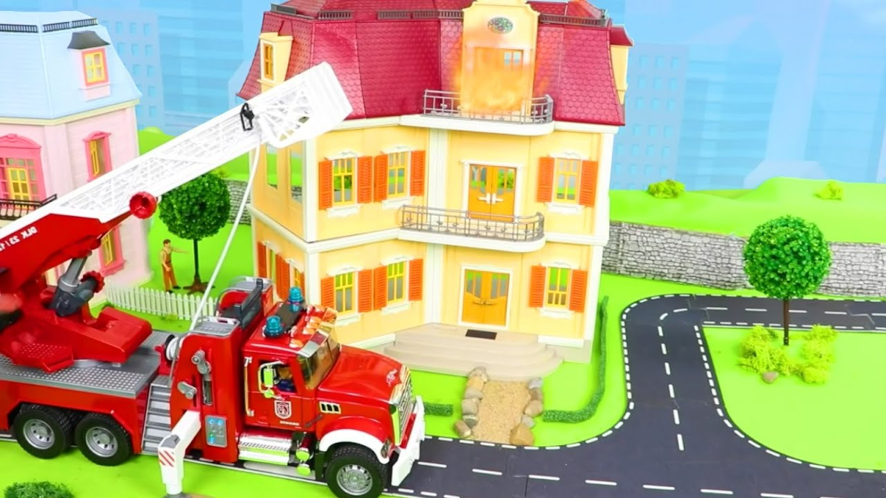 Garbage Fire Truck Tractor Police Cars Crane
