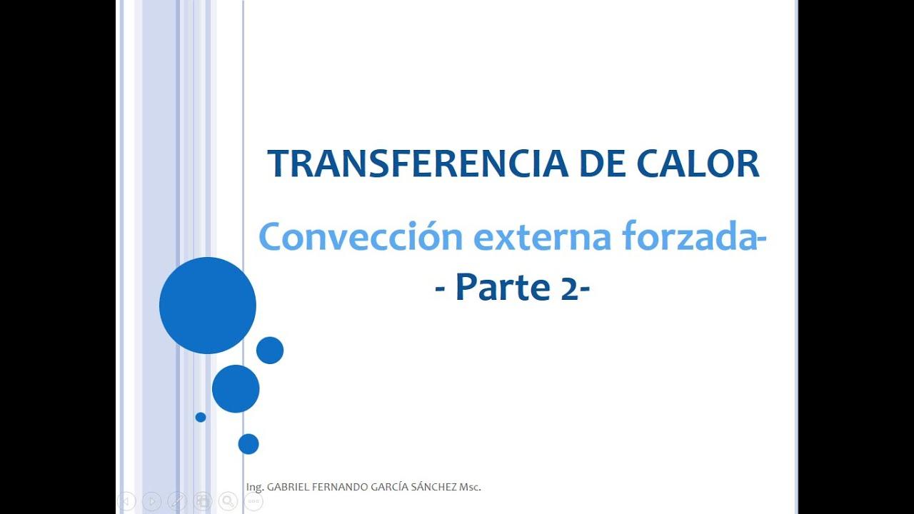 Convección Externa Forzada Parte 2 (Con ejercicio resuelto) - Clase 13 Transferencia de Calor