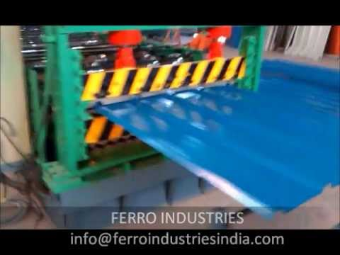 Roll Forming metal roofing sheet by ferro industries