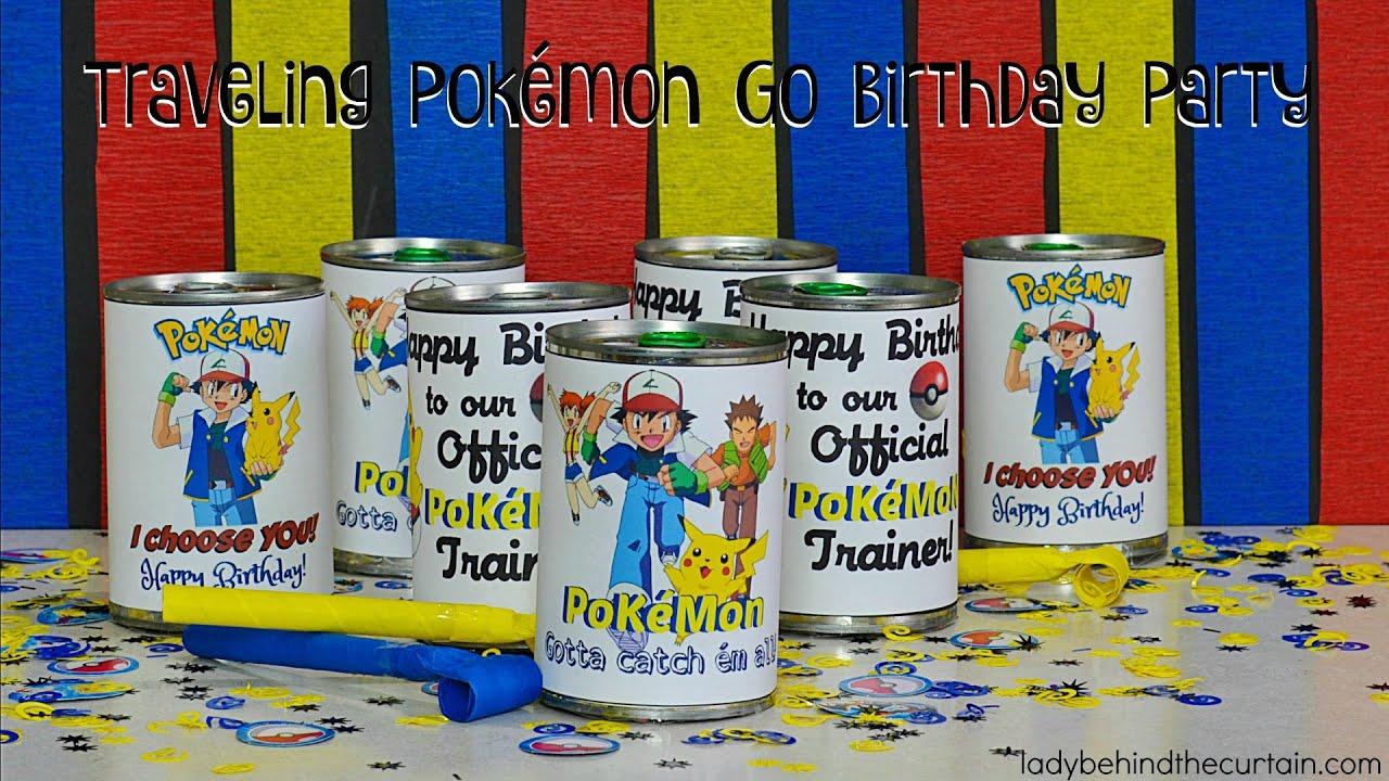 Traveling Pokémon Go Birthday Party