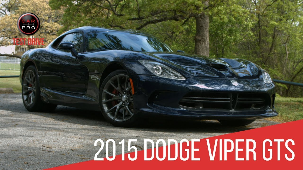 2015 Dodge Viper GTS Test Drive - YouTube