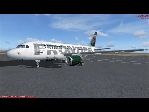 FSX Frontier Airbus A318 Ibiza to Palma de Mallorca