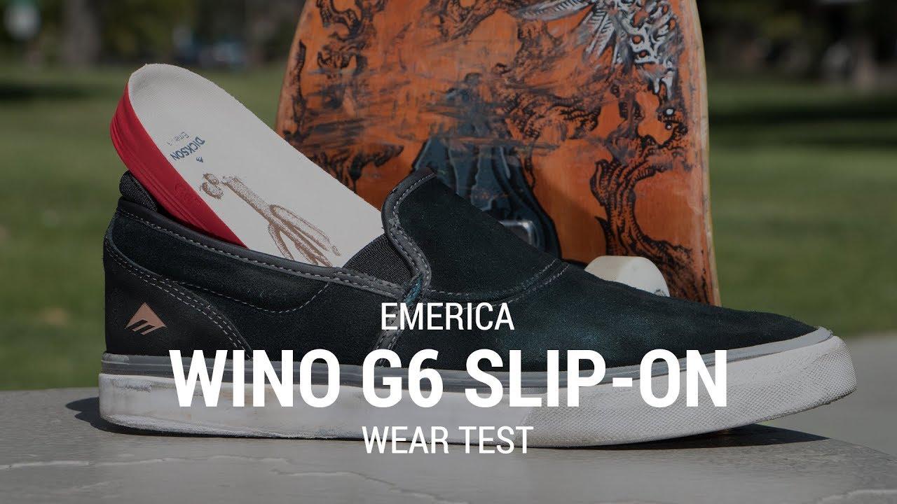 Emerica Wino G6 Slip On Skate Shoes