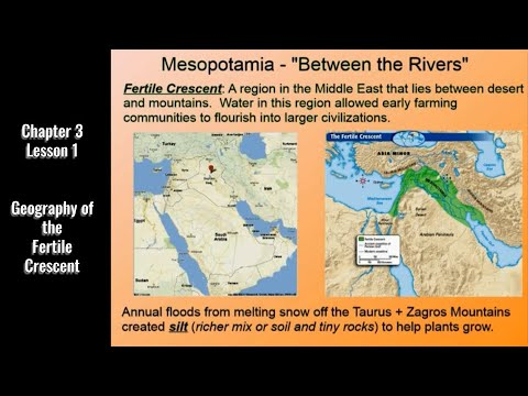 Ancient Civilizations: Geography of the Fertile Crescent (Rossiter United, Chapter 3 Lesson 1)