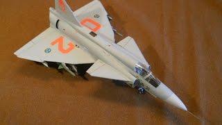 HELLER 1/72 Saab JA37 'Jaktviggen' - A Build In Pictures