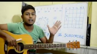 Tutorial 2:Beginner Acoustic Guitar Lesson-Chord Cycle and Fretboard Notes(Bengali)-
