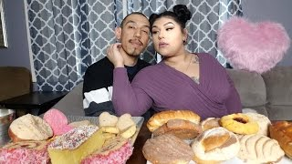 Sweet treats with my vato /MUKBANG pan Dulce inspired by Sarah and Chachi