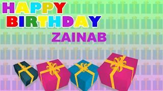 Zainab Birthday - Card  - Happy Birthday ZAINAB