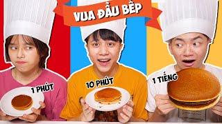 Chung Kết Vua Đầu Bếp: Bánh Rán Dorayaki 1 Phút Vs 10 Phút Vs 1 Tiếng!!