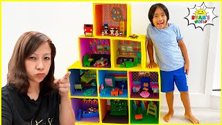Ryan&#39s Giant Doll House Adventure with Mommy and more 1hr kids Video!