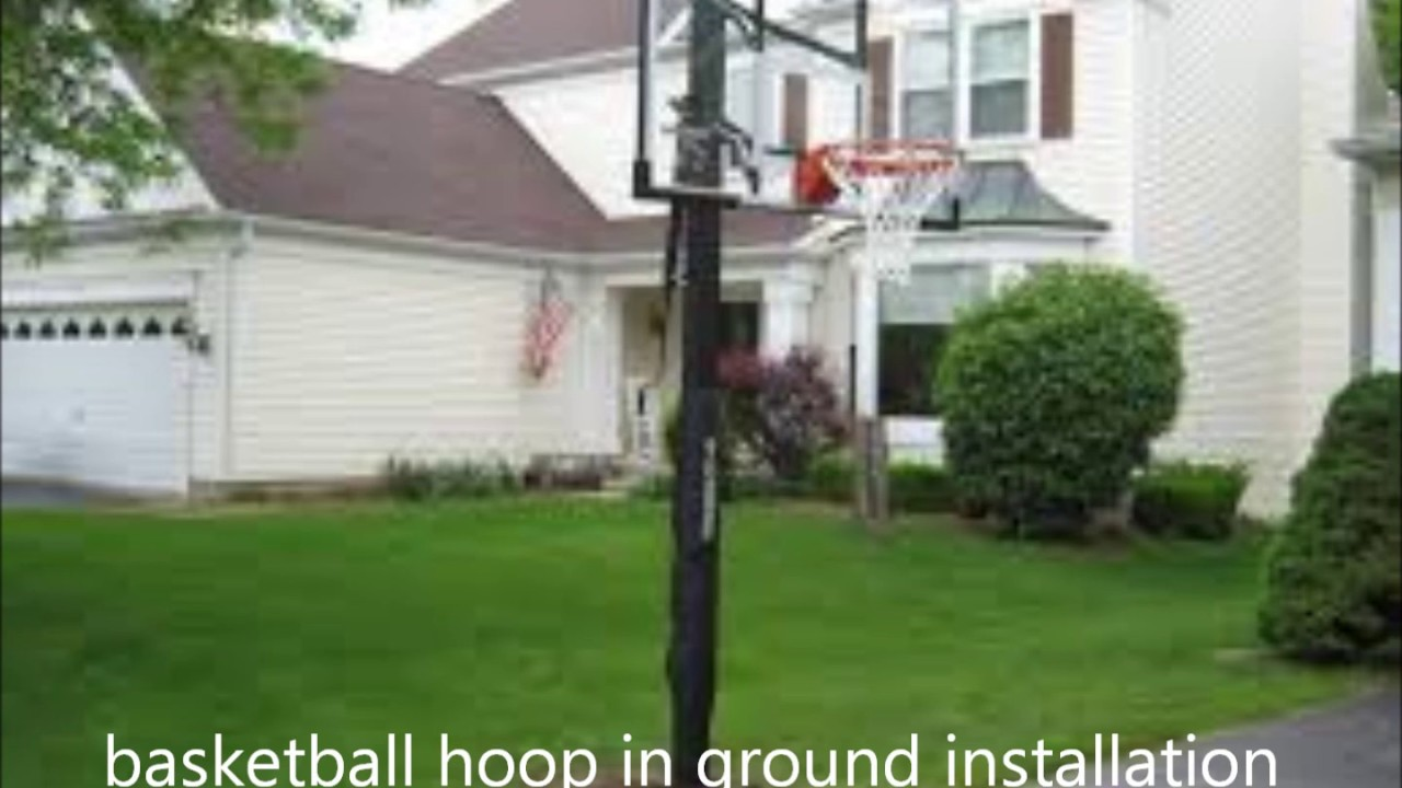 how much in ground basketball hoop assembly and installation cost