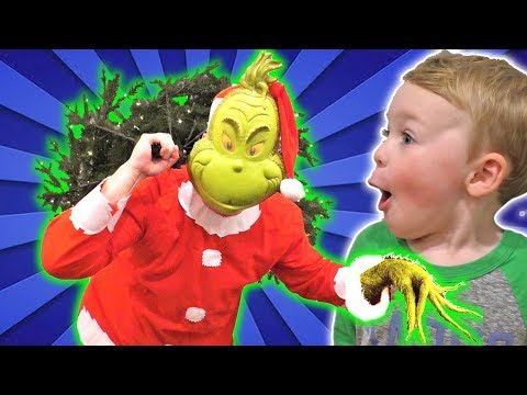 The Grinch Caught Stealing our Christmas Tree (SKIT) | DavidsTV