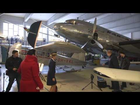 """The Making of """"Blue Wings of Time"""" Photo Exhibiton at Helsinki Airport"""