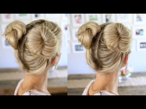 3 Easy Double Buns   Space Buns for Thin, Normal, & Thick Hair